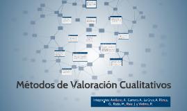 Copy of Métodos de Valoración Cualitativos