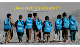 Does Humanitarian aid work?