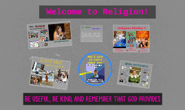 Welcome to Religion!