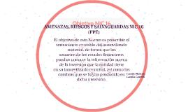 AMENAZAS, RIESGOS Y/O FRAUDES NIC 16 (PPE)
