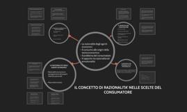 Copy of IL CONCETTO DI RAZIONALITA' NELLE SCELTE DEL CONSUMATORE