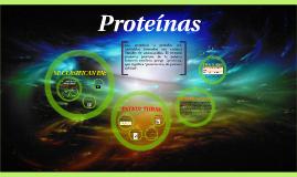Copy of Las proteínas o prótidos son moléculas formadas por cadenas