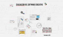 EVALUACIÒN DEL SOFTWARE EDUCATIVO