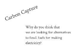 carbon capture - investigation