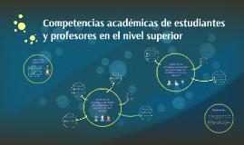 Competencias académicas de estudiantes y profesores universi