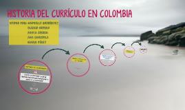 HISTORIA DEL CURRÍCULO EN COLOMBIA
