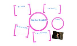 Head of English by Carol Ann Duffy