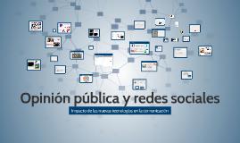 Opinión pública y redes sociales