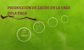 PRODUCCIÓN DE LECHE EN LA UBRE DELA VACA