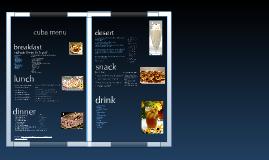 cuban menu