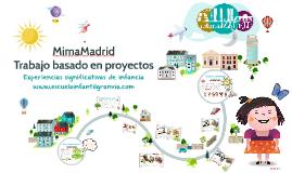 MimaMadrid, trabajo basado en proyectos en Educación Infantil