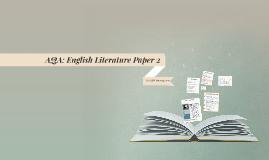 AQA Literature Paper 2 PD