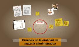 Pruebas en la oralidad en matería administrativa