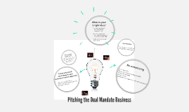 Pitching the Dual Mandate Business