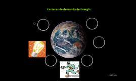 Factores de demanda de Energía