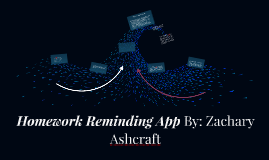 Homework Reminding App By: Zachary Ashcraft