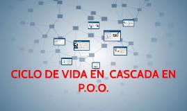Copy of CICLO DE VIDA EN  CASCADA EN P.O.O.