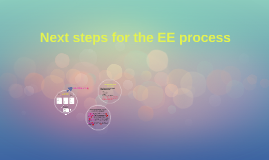 2018 Outline + Next steps for the EE process 2