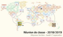 Réunion de classe - 2017/2018