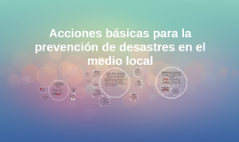 Copy of Acciones basicas para la prevencion de desastres en el medio