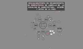 DESCASCARAMIENTO EN RECUBRIMIENTO DE MAMPOSTERIAS DE LADRILL