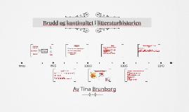 Brudd og kontinuitet i litteraturhistorien