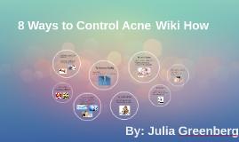 8 ways to Control Acne