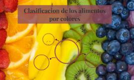 Clasificacion de los alimentos por colores