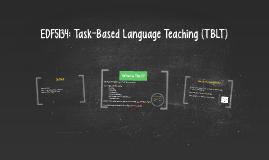 EDF5134: Task-Based Language Teaching (TBLT)