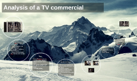 Analysis of a TV commercial
