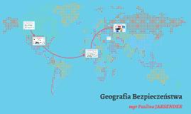 Geografia Bezpieczeństwa Niestacjonarna