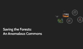 Saving the Forests: An Anomalous Commons