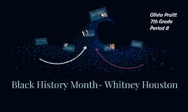 Black History Month- Whitney Houston