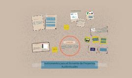 Copy of Instrumentos para el fomento de Proyectos Audiovisuales