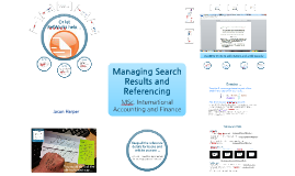 Managing Search Results and Referencing