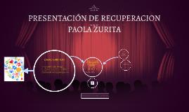 PRESENTACIÓN DE RECUPERACION