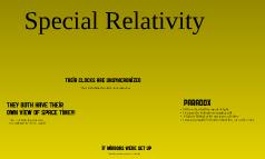 Special Reliativity