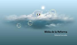 Biblia de la Reforma