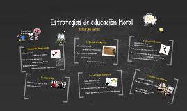 Estrategias de educación Moral