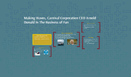 Making Waves Carnival Corporation CEO In The Business of Fun