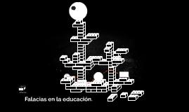 Falacias en la educación.