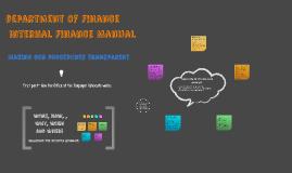 department of Finance InternalFinance Manual
