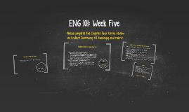 ENG 101: Week Five