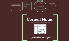 Copy of Cornell Notetaking