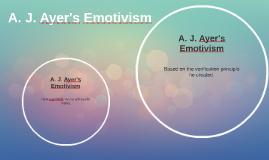 A.j. ayer emotivism thesis