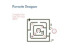 Favorite Designer