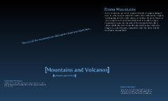 Mountains and Volcanos