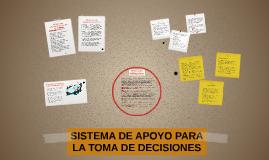 Sistema de apoyo para la toma de decisiones