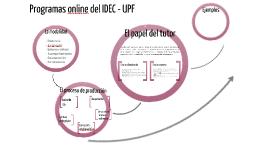 Presentación Programas Online del IDEC-UPF