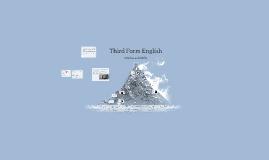 Third Form English